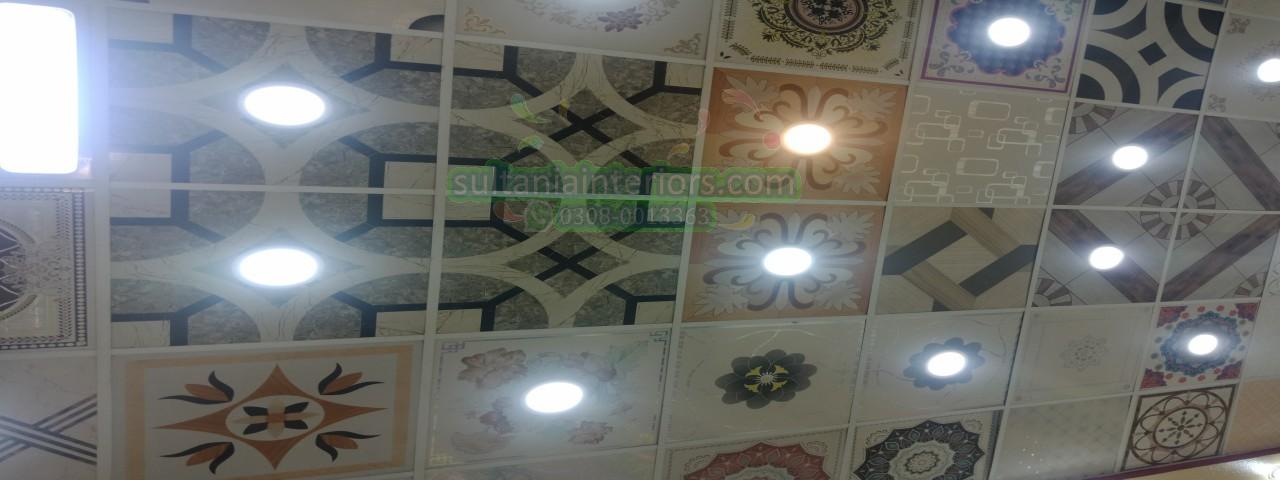 Pvc 2x2 Ceiling Tiles 2x2 Pvc Tiles Pvc False Ceiling Sultania Interiors